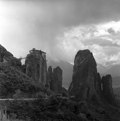 Central Greece May 1959 Metéora set includes photographs of the people, monasteries and stone pillars of metéora. from nick and maggie's spring 1959 Stone Pillars, Greece, Explore, Mountains, Photo And Video, History, World, Travel, Photographs