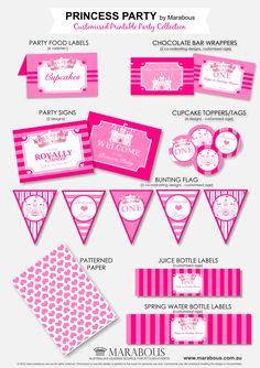 Printable Princess Birthday Party Invitations Kits  Kootationcom