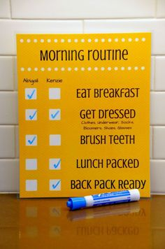 Daily Routine Checklist for Kids - Morning Routine