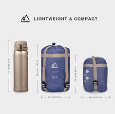 Terra Hiker Ultra-Light Sleeping Bag. Lightweight & compact! #campinggear #Camping #Travel