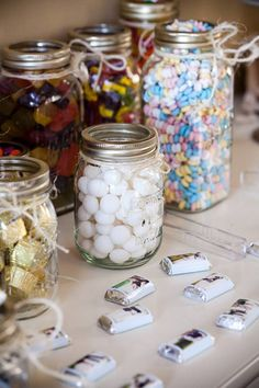 Idea for favors: have a bunch of goodies in jars/boxes, and have little containers for people to bring home what they like! Sweets, souvenirs....