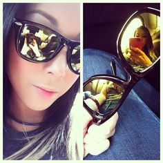 #sunglasses #wayfarer #mirror #bleudame