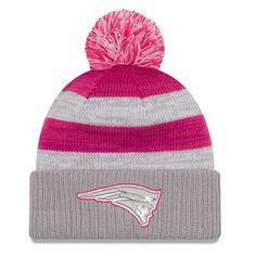 New Era 2016 Ladies BCA Pom Knit-Gray/Pink