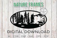Nature Frames Wild Nature Laser cut Laser cut patterns   Etsy Cnc Router Plans, Woodworking Plans, Software, Laser Cut Patterns, Laser Cut Files, Cnc Plasma, Oval Frame, Wild Nature, Laser Cutting