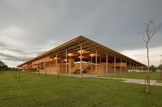 A wooden boarding school dormitory located on the edge of a rainforest in northern Brazil has been declared the world's best new building. Children Village was chosen from a longlist of 62 projects to receive the prestigious RIBA 2018 International Prize. Social Housing Architecture, Architecture Design, School Architecture, Contemporary Architecture, Brazilian Rainforest, Tomie Ohtake, Forest School, Landscape Design, Facade