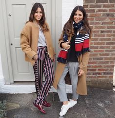 Sarah and Philippa from We Are Twinset wearing the 30th Anniversary Capsule Collection from Tommy Hilfiger