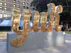 Large scale Clear acrylic letters