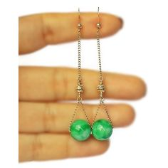 Jade 14 K Gold Filled Long Earrings-Elegant pair of gold filled earrings perfect for every modern woman who prefers minimalist yet stylish look.