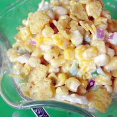 Paula Deen's Corn Salad Recipe. Can also use 4 cups of frozen corn, cooked and then chilled, instead of canned.