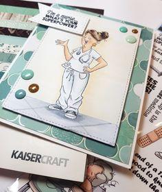 HOBBYKUNST art impression sykepleierkort kaisercraft Art Impressions, Copic, Coco Chanel, Art Prints