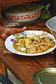 Tahu Campur (Mix Tofu Soup).  A street food in East Java, Indonesia.  Click on picture for more story.