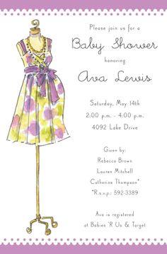 Mommy Dress Invitation | Zurianas Elegant Occasions