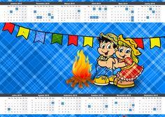Convite Calendário 2015 Festa Junina: