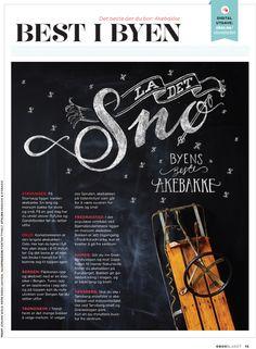 Typography - OBOS Bladet by Studio Thyholt, via Behance