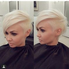 Short Shaved Hairstyles short lady spiky haircut with shaved side The New Web For People Who Love Hair Shaved Hairstylesunique