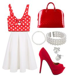 """Red"" by anela-memic ❤ liked on Polyvore"