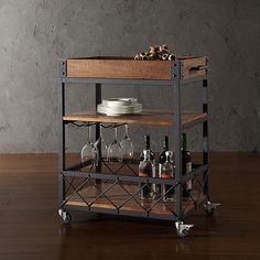 Verona Home Seymour Kitchen Rolling Serving Cart
