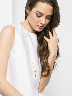long fang pendant necklace