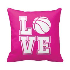 If you LOVE basketball, this pillow is perfect for you!  You can choose ANY of the colors from our palette for the background, letters and ball!  Perfect for any girls bedroom.