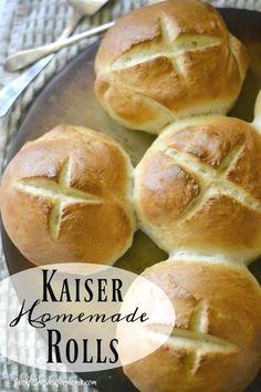 Homemade Kaiser Rolls • Faith Filled Food for Moms