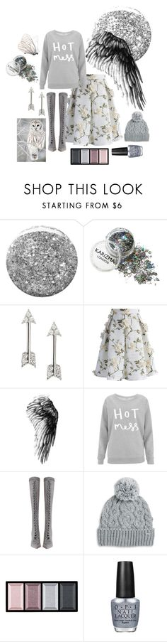 """""""Snowy Owl"""" by mikaelajane17 ❤ liked on Polyvore featuring Burberry, Banana Republic, Chicwish, Zimmermann, Rella, Clé de Peau Beauté and OPI"""