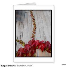 Burgundy Leaves Greeting Card
