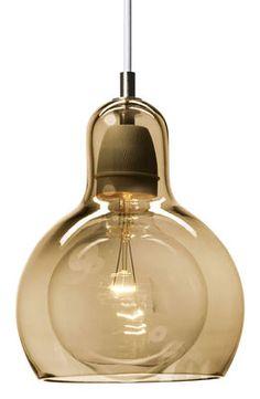 Suspension Mega Bulb Gold / Ø 18 cm - Câble blanc Doré / câble blanc - And Tradition - Décoration et mobilier design avec Made in Design