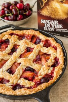 Can't choose between cherry or peach pie for dessert? Why not combine both with our Cherry-Peach Pie recipe made with Sugar In The Raw®. This pie is a perfect combination of fresh ripe peaches and tart summer cherries with a dash of cinnamon bringing all the delightful flavors together. With a homemade crust, this tasty summer pie is packed with twice the flavor all in one bite.