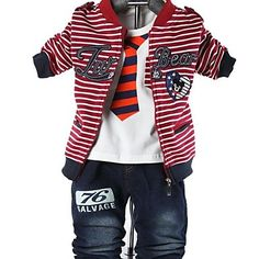 Children's Clothing Boys Three Pieces Sets Baby Set Boy Suit Tshirt and Jacket Pants – AUD $ 26.46