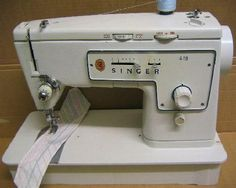 Singer model 413 zig zag sewing machine manufactured 1962-63