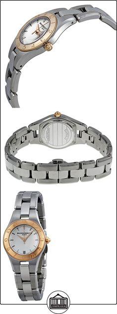 Baume y Mercier Linea Plata Dial Acero inoxidable Ladies Watch 10079  ✿ Relojes para mujer - (Lujo) ✿