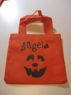 vinyl projects   Halloween Goodie Bags - by Angela