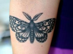 What does moth tattoo mean? We have moth tattoo ideas, designs, symbolism and we explain the meaning behind the tattoo. Tribal Tattoos, Grey Ink Tattoos, Tattoos Skull, Elephant Tattoos, Black And Grey Tattoos, Cool Tattoos, Gypsy Tattoos, Ear Tattoos, Tatoos