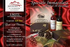 Winter Holiday in Italy. Charme and Pleasure. #Winelovers #Travel #Food #Holiday #BedandBreackfast #Italy #Promotion