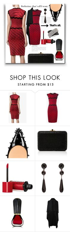 """""""Perfection"""" by queenofsienna ❤ liked on Polyvore featuring Mary Katrantzou, Christian Louboutin, Judith Leiber, Prada, Bourjois, Givenchy, Oribe, Comme des Garçons and Mark Broumand"""