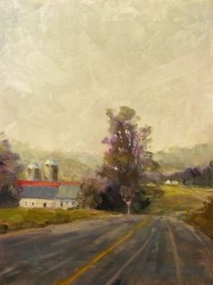 """Less Traveled"", oil on panel. By Jill Basham"