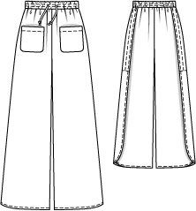 Drawstring Palazzo Pants pdf sewing pattern