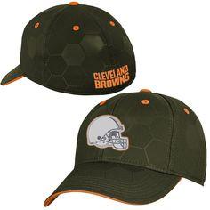 c833373deb2 Youth Cleveland Browns Brown Stealth Structured Flex Hat