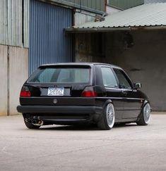 Volkswagen Golf Mk2, Vw Mk1, Golf 1, Drag Cars, Porsche, Audi, Car Pictures, Old Cars, Sport