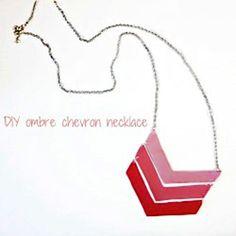 DIY Ombre Chevron Necklace