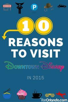10 Reasons to Visit Downtown Disney/Disney Springs at Walt Disney World This Year!