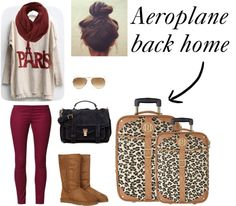 """Aeroplane Ride Home"" by fashion-girl1234 ❤ liked on Polyvore"