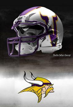 that looks cool College Football Helmets, Best Football Team, National Football League, Football Fans, Collage Football, Custom Football, Football Stuff, Minnesota Vikings Football, Nfl Vikings