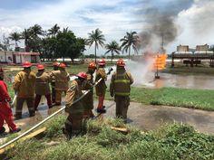 Pemex contribuye en la formación del cuerpo de bomberos de Salina Cruz