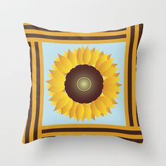 Sunflower Throw Pillow cover by Ramon Martinez Jr - $20.00