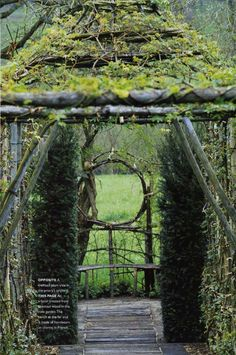This site is gorgeous, click through for willow garden sculptures that will blow your garden boots off your feet. Photographs by Marc Broussard, I'm looking him up...