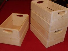 Wooden crates as planters