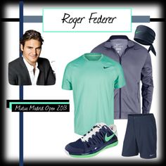 """European Clay Courts 2013 - Roger Federer"" by tennisexpress on Polyvore"