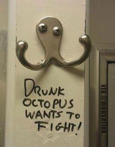 #drunk #octopus #fight