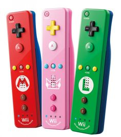 Mario themed video game controllers for kids. Fun!
